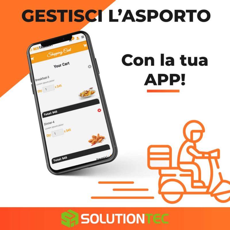 app per ristoranti e consegna a domicilio